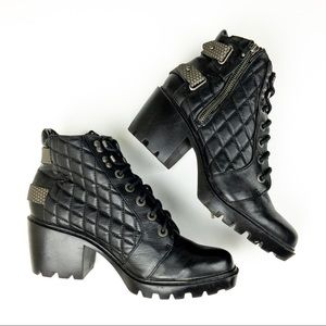Dolce Vita Heeled Faux Leather Boots